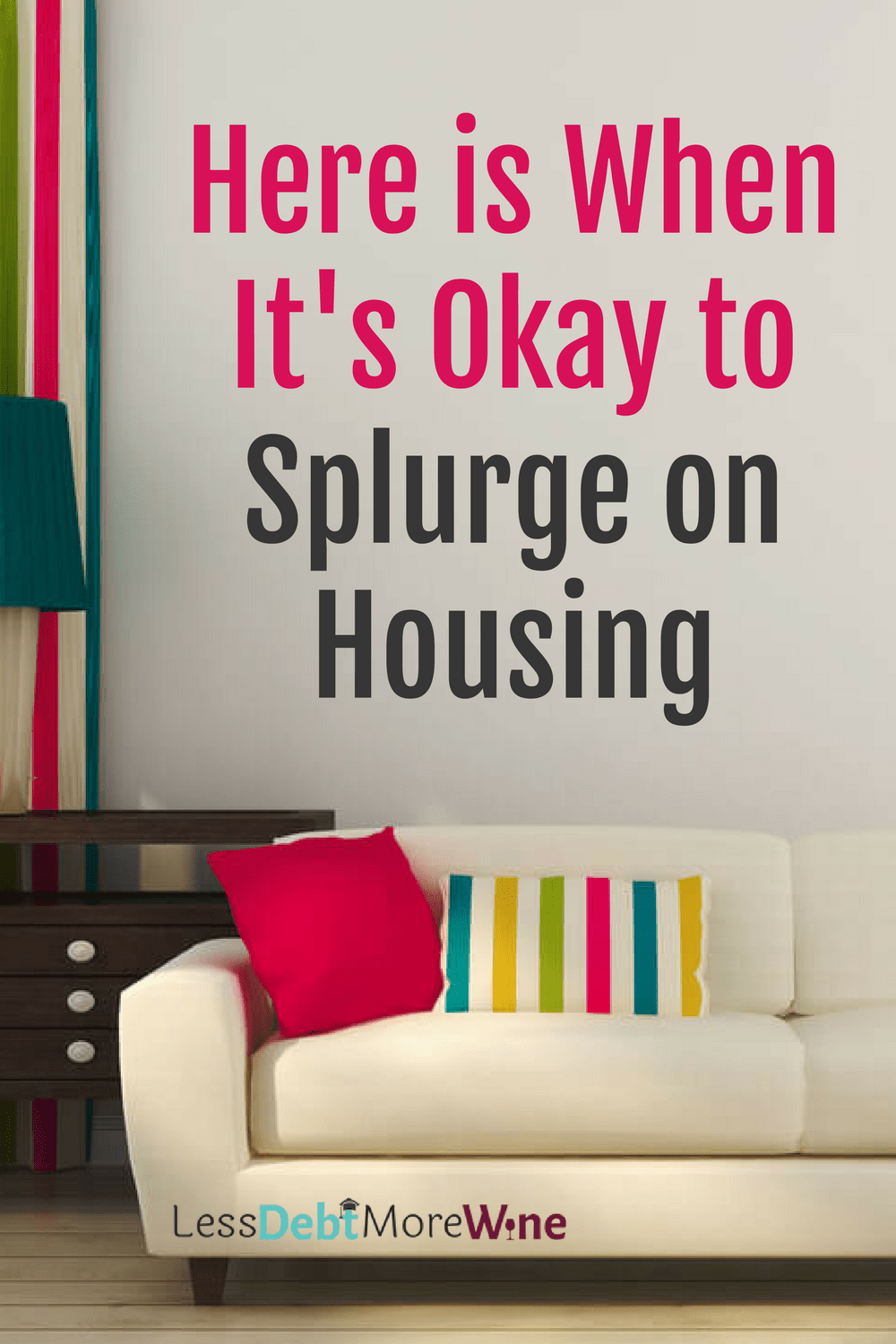 Everyone needs a roof over their head, but when you're in debt can you justify a pricer roof? I think so, safety in particular is why I think a splurge on housing is a-okay, even if you have a ton of debt, find out why I love where I live