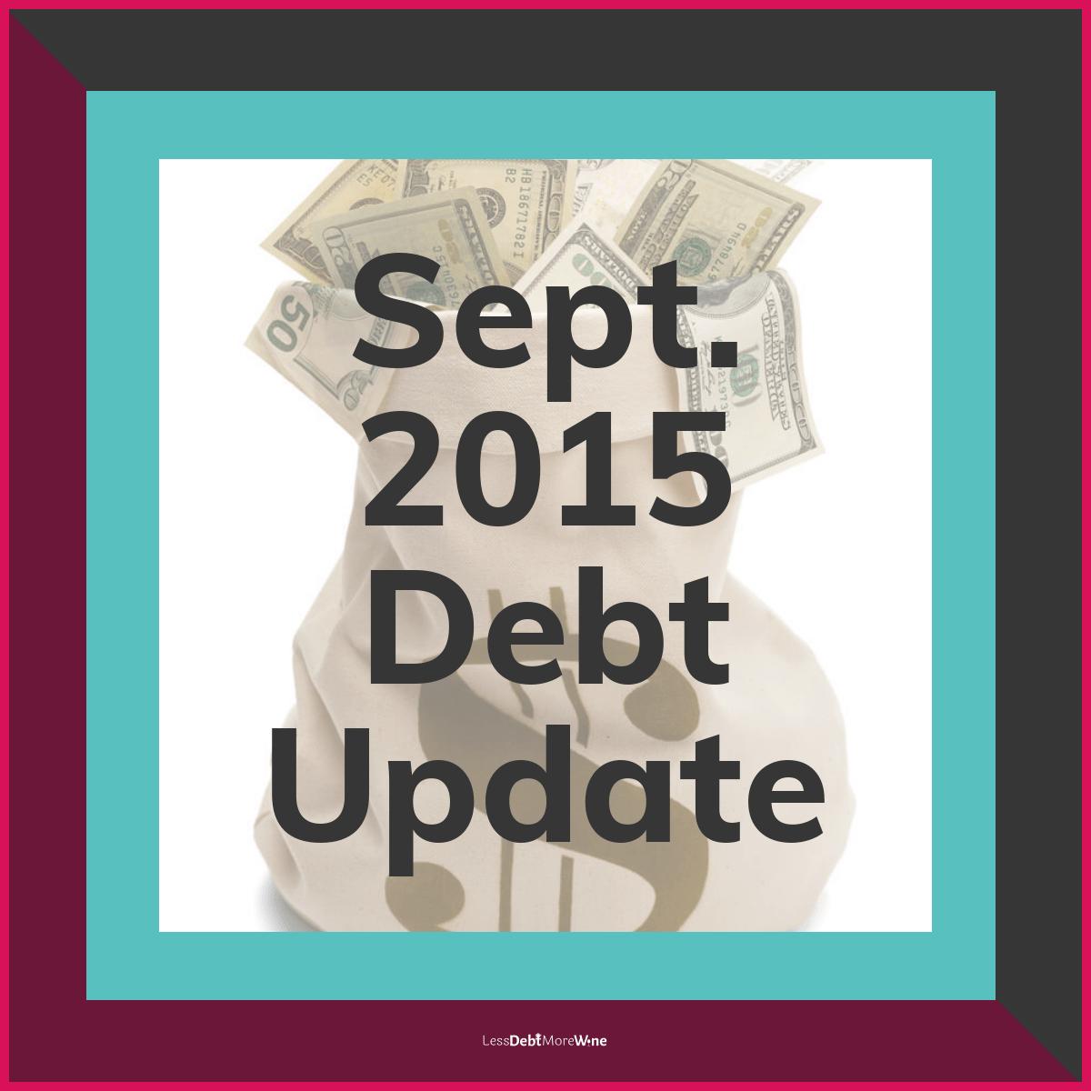 September 2015 Debt Update, debt payoff progress