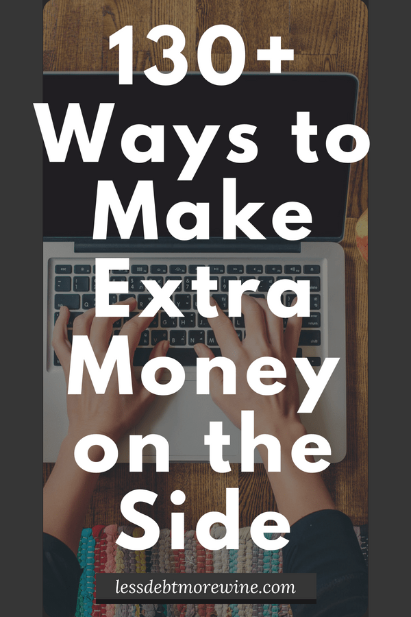 Looking to start making extra money on the side? Check out this list of 130+ ways to make money on the side and get started with a side gig or side hustle!