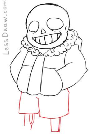 Как нарисовать Санса из Андертейл