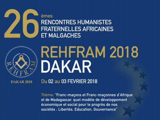 Dakar accueille une rencontre des loges maçonniques africaines et malgaches du 2 au 3 février 2018