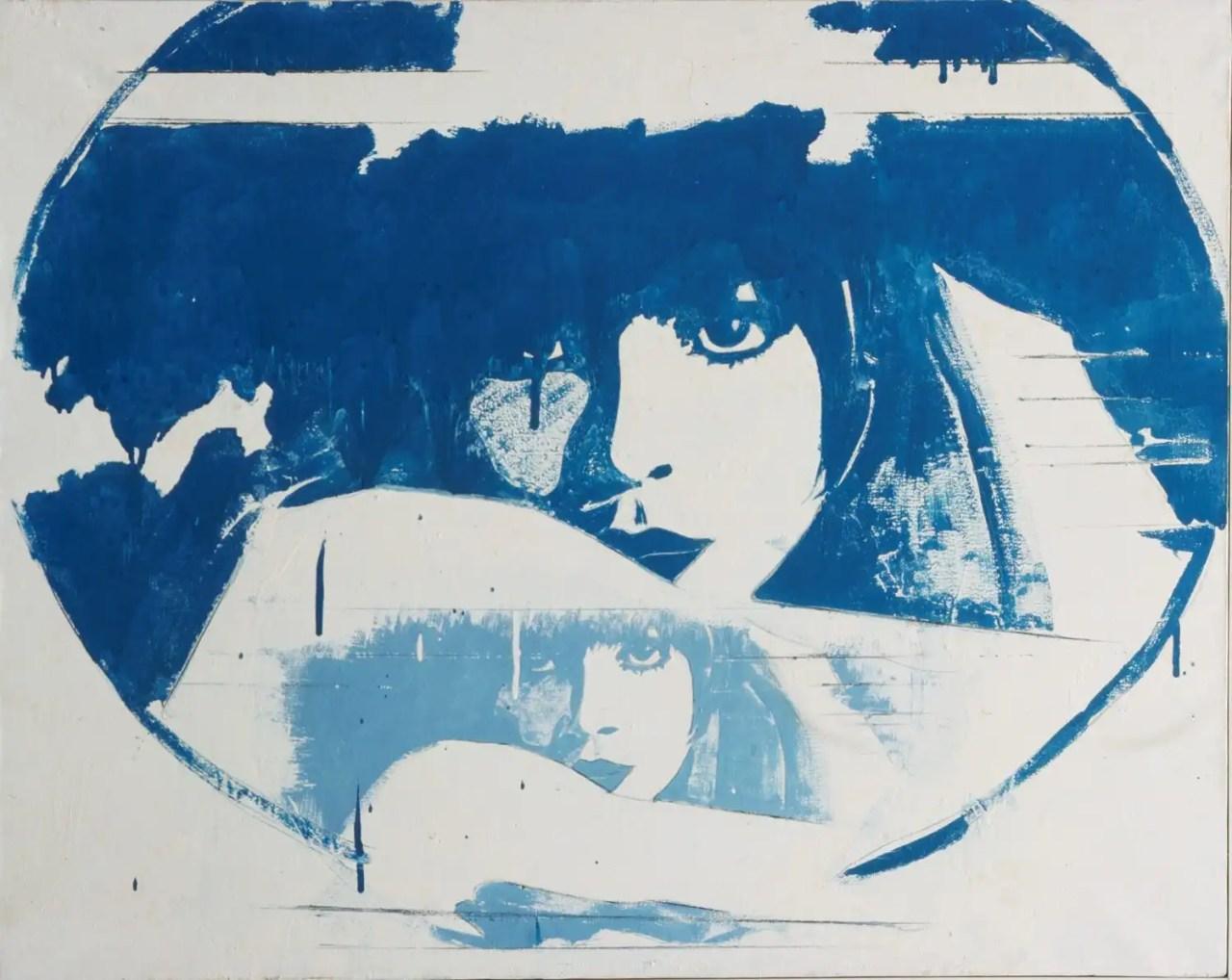 Giosetta Fioroni Doppio liberty smalti colorati su tela 80×100 1965