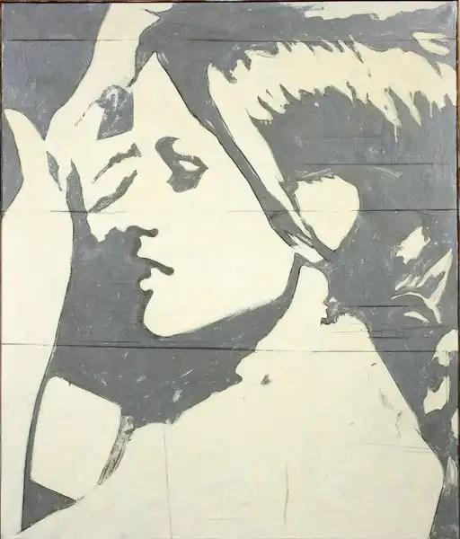 Giosetta Fioroni, La ragazza della tv, tela, 1964,cm. 140×100, coll. GNAM Roma