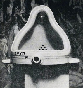 he original Fountain by Marcel Duchamp photographed by Alfred Stieglitz