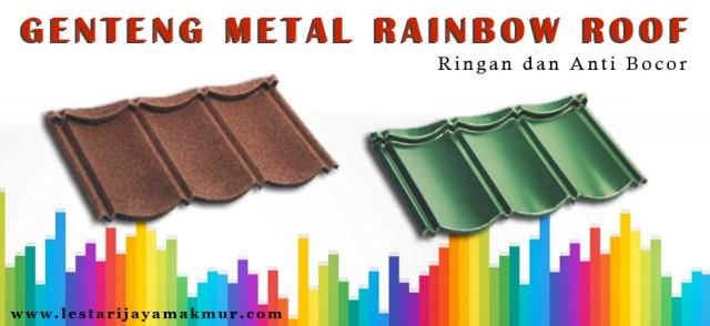 harga genteng metal rainbow roof
