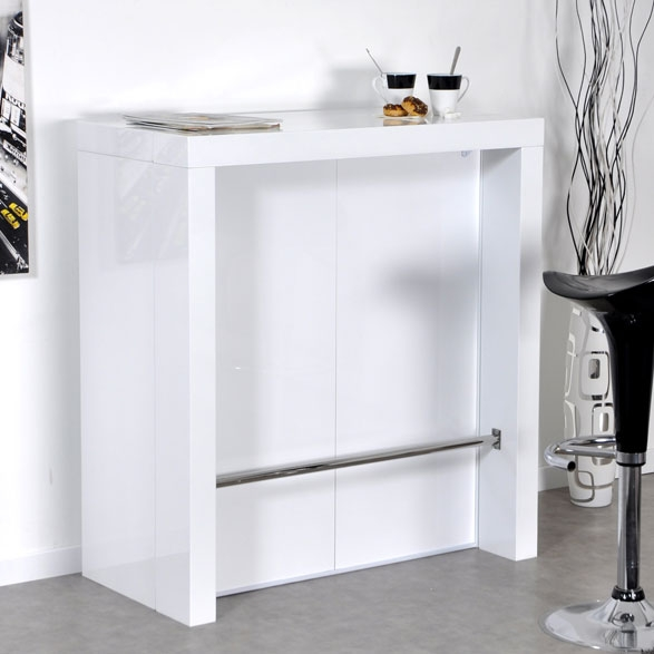 Bar Laqu Blanc Algo Console Extensible LesTendancesfr