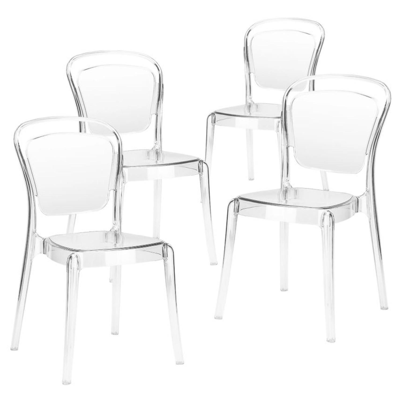 chaise medaillon plexiglas transparent millie lot de 4