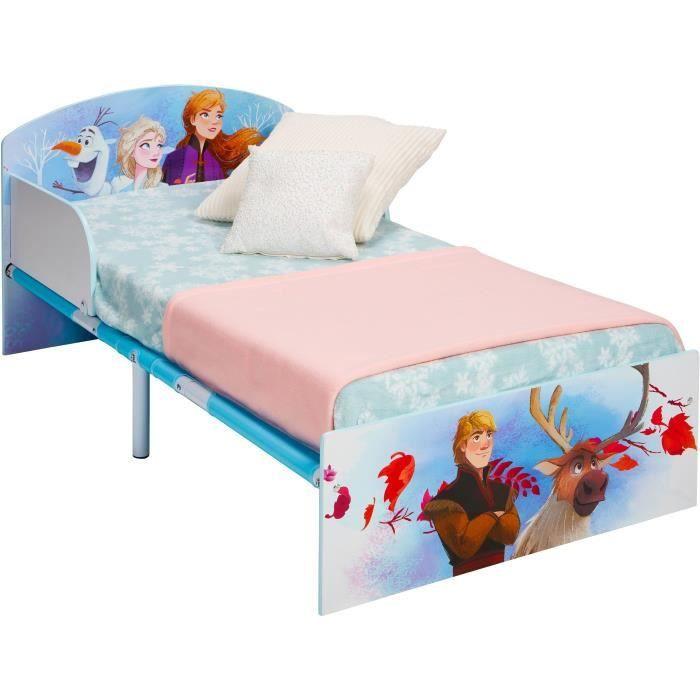 disney frozen lit pour enfants la reine des neiges convient aux matelas de 140 x 70 cm bleu