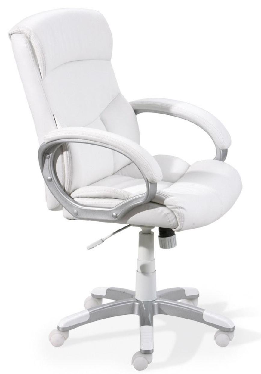 fauteuil de bureau simili cuir blanc alberti 129598 jpg
