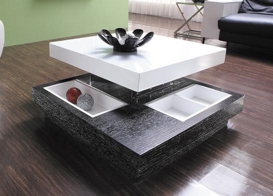 Table Basse Design Relevable Bois Et Laqu Coffee