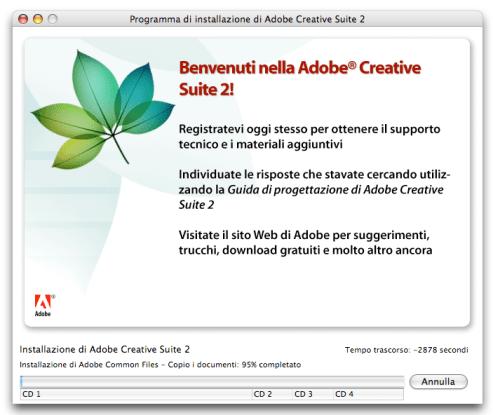Installazione Adobe Creative Suite 2