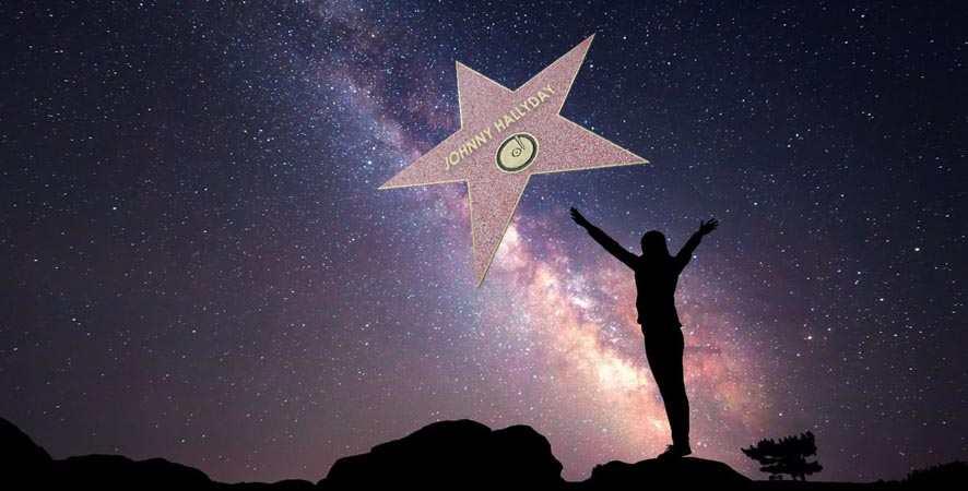Johnny Hallyday une Star parmi les étoiles