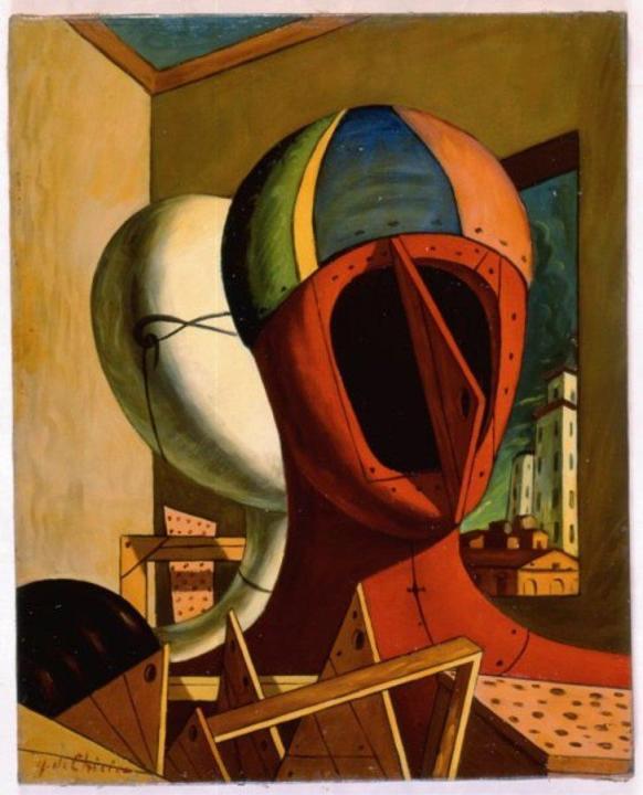 Giorgio De Chirico, Maschere X ART RAFFAELLA BELFIORE - Copia