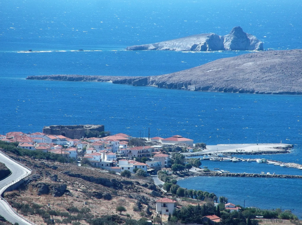 The castle and village of Sigri Lesvos