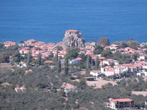 View of Petra from Petri Lesvos