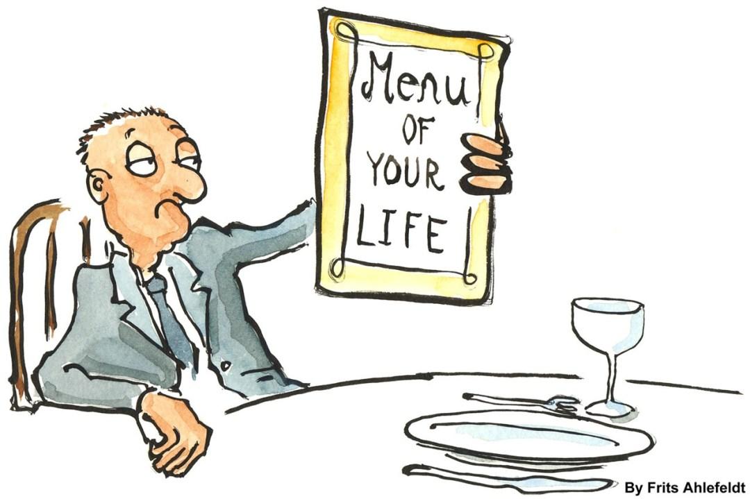 menu de votre vie