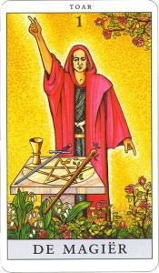 Tarotkaart 02 De Magier 1 grote Arcana De Tarot in de herstelde orde