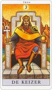 Tarotkaart 04 De Keizer 3 grote Arcana De Tarot in de herstelde orde