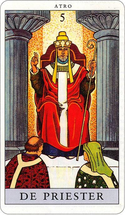 Tarotkaart 07 De Priester 5 grote Arcana De Tarot in de herstelde orde