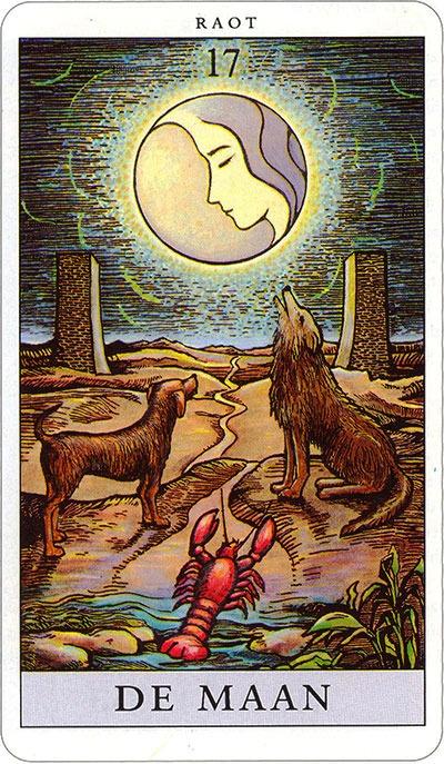 Tarotkaart 20 De Maan 17 grote Arcana De Tarot in de herstelde orde