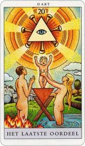Tarotkaart 23 Het Laatste Oordeel 20 grote Arcana De Tarot in de herstelde orde