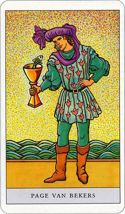Tarotkaart 56 Bekers Page | Schildknaap