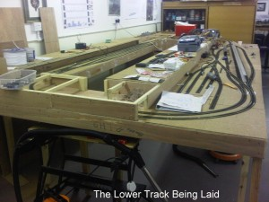 Lower Track Being Laid