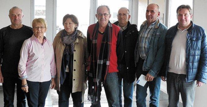 Marcel Abily, Lisette Cocaign, Christine Romain (présidente de Bertheaume),...