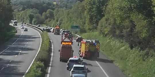 Accident sur la RN165 au niveau de Melgven. Photo DR