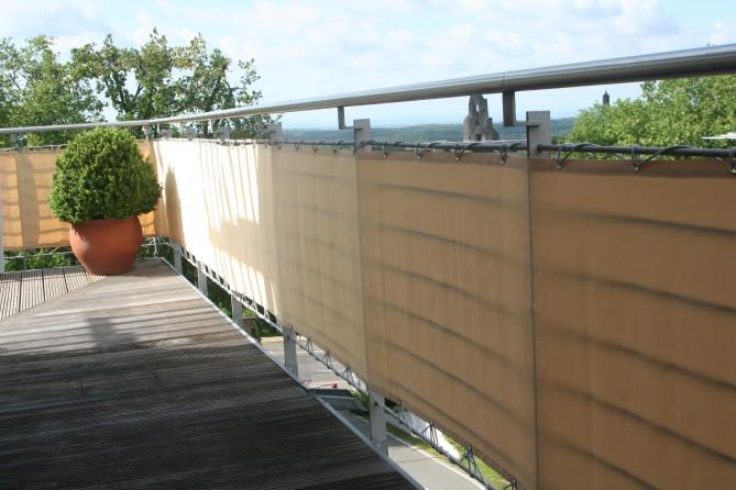 brise vue brise vent balcon 75 cm x 5 m