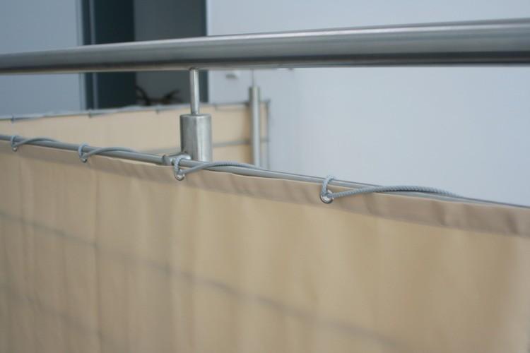 tissu brise vue balcon sur rouleau de
