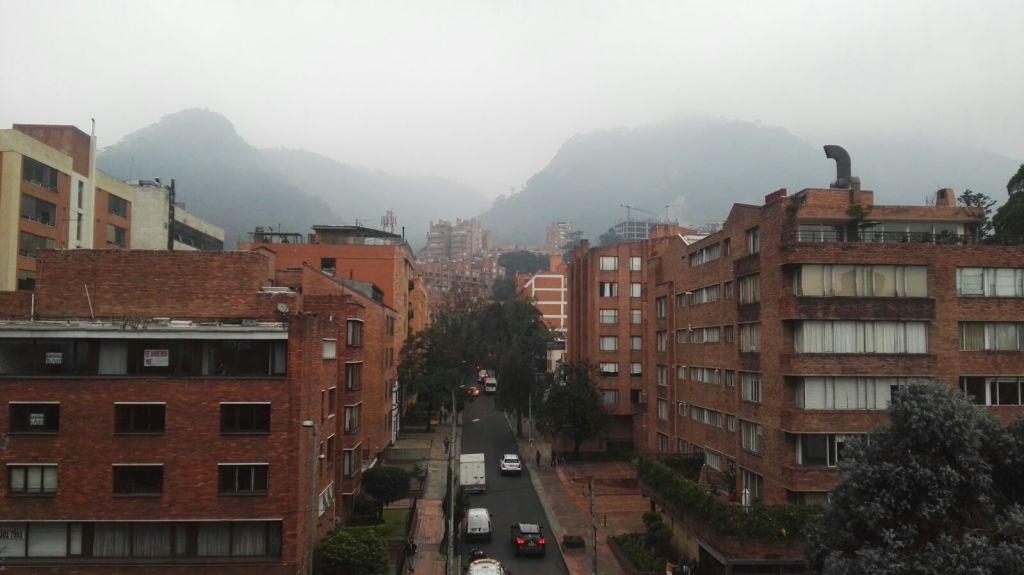 Typická ulice v Bogotě