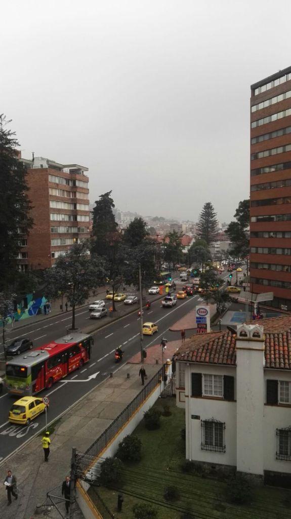 Typická ulice Bogoty
