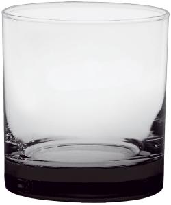 11 oz. Executive Old Fashion - Custom Glow® Bottom Spray - Black