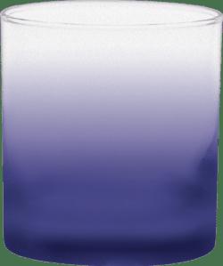 11 oz. Executive Old Fashion - Custom Frosty Glow® Spray - Reflex Blue