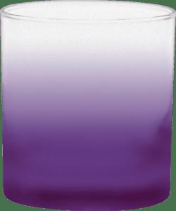 11 oz. Executive Old Fashion - Custom Frosty Glow® Spray - Purple