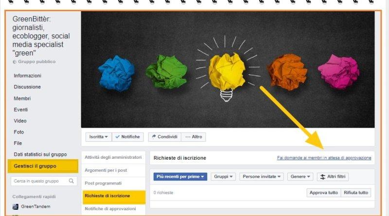 domande introduttive nei gruppi facebook per nuovi iscritti