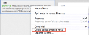 Link tra note