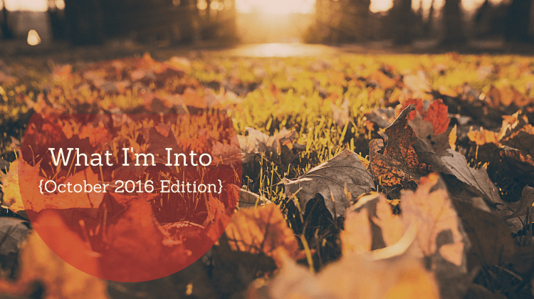 Feature Image What I'm Into Oct 2016 edition