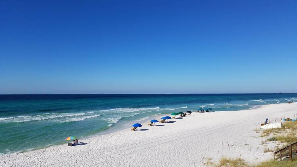 Seagrove Beach Wide Shot Florida Panhandle