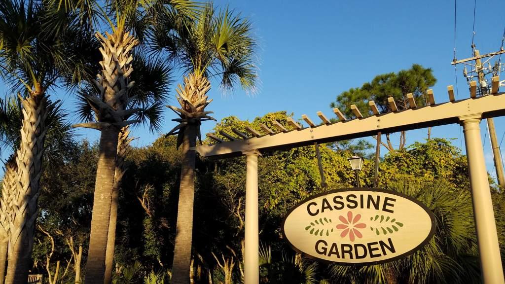 Csasine Garden Sign in Seagrove Beach, FL