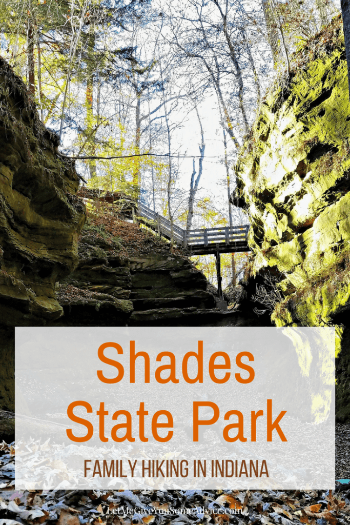 Shades State Park in Indiana. Perfect for family hiking from Let Me Give You Some Advice
