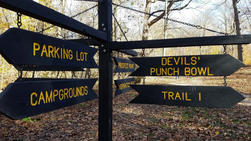 Trails signs at Shades State Park   Let Me Give You Some Advice