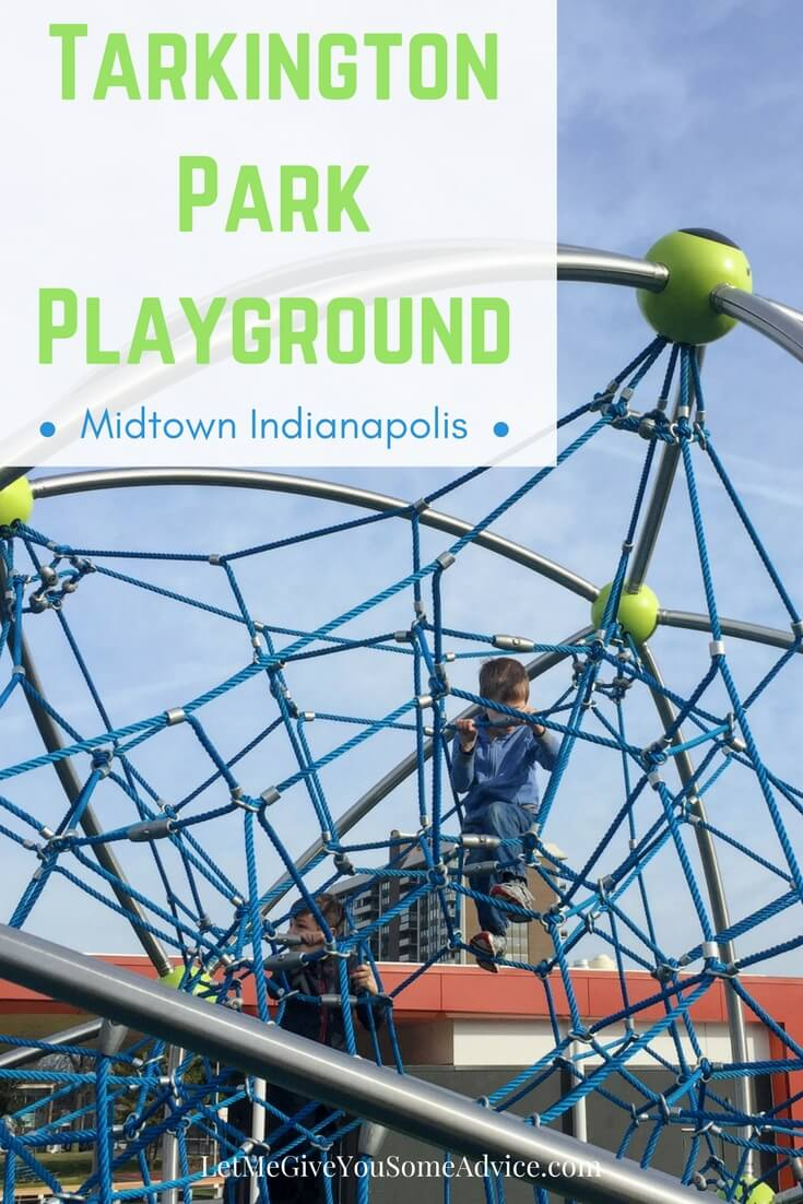 Tarkington Park playground in Midtown Indianapolis