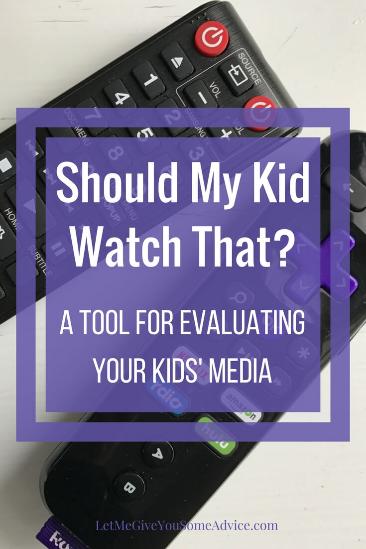 Are you asking 'should my kid watch that?' as you look through Netflix, Hulu or the app store? Here's my favorite tool for evaluating kids' media choices to make sure I know what my kids are watching.