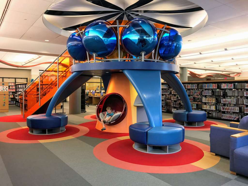 Allen County Public Library Main Branch Children's Reading Loft in Fort Wayne, Indiana