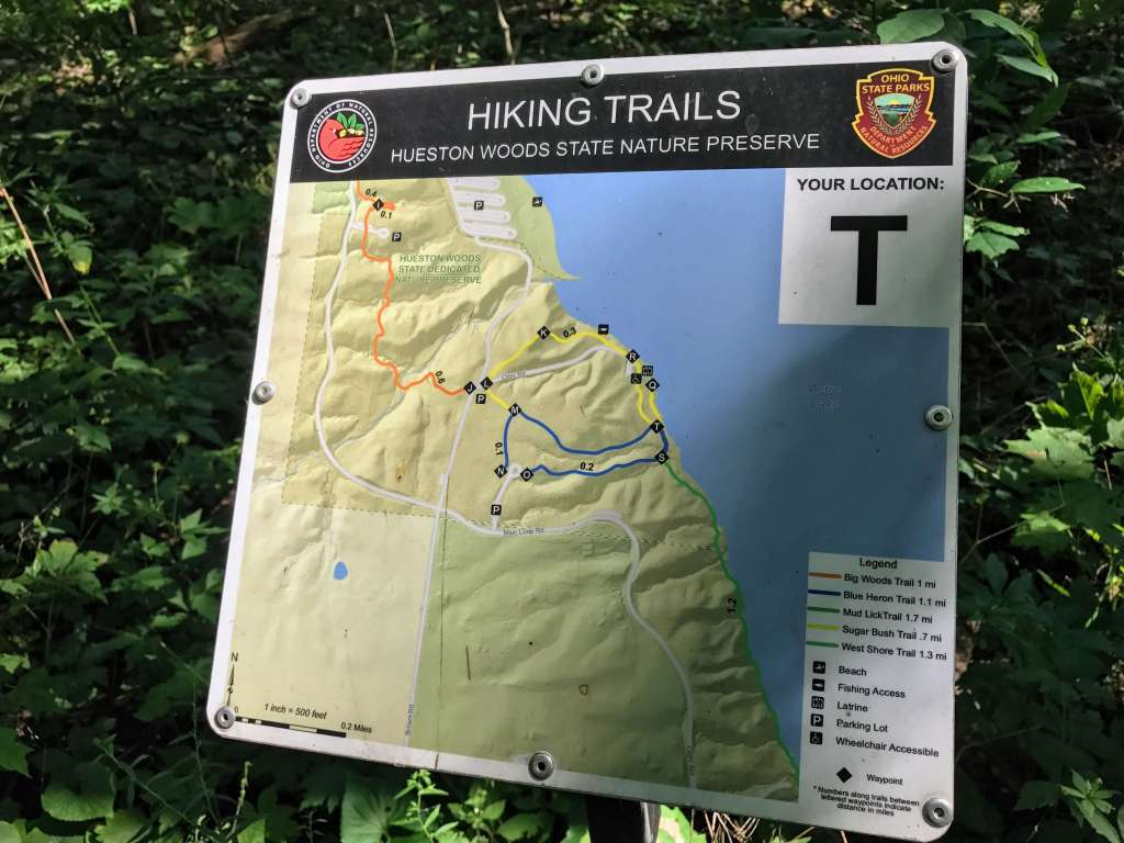 Hueston Woods Trail Marker