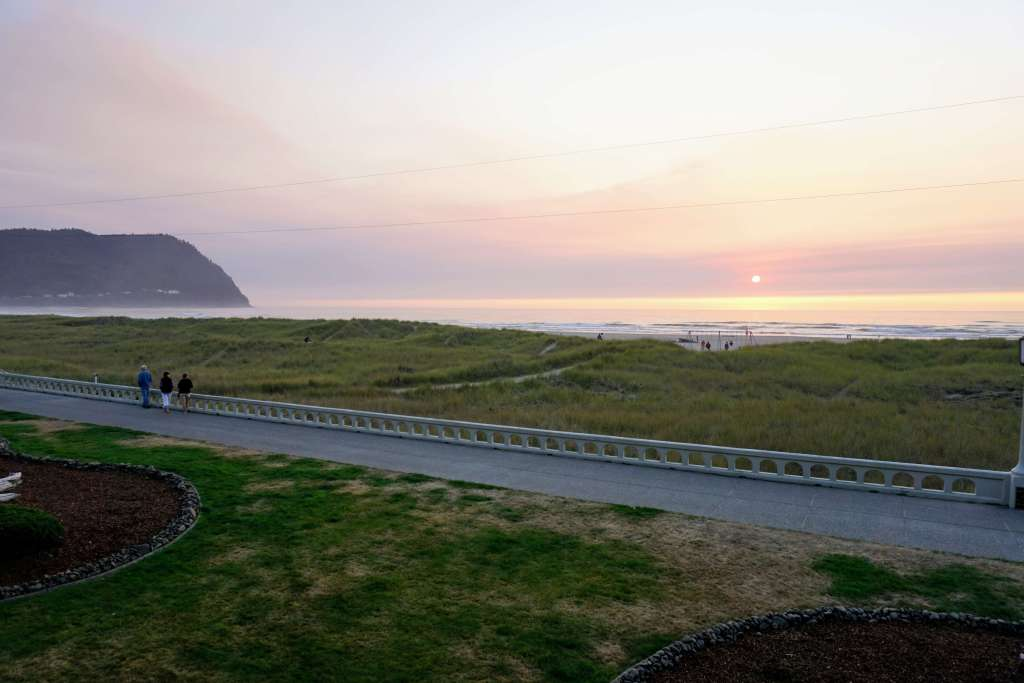 The Prom Walkway in Seaside, Oregon