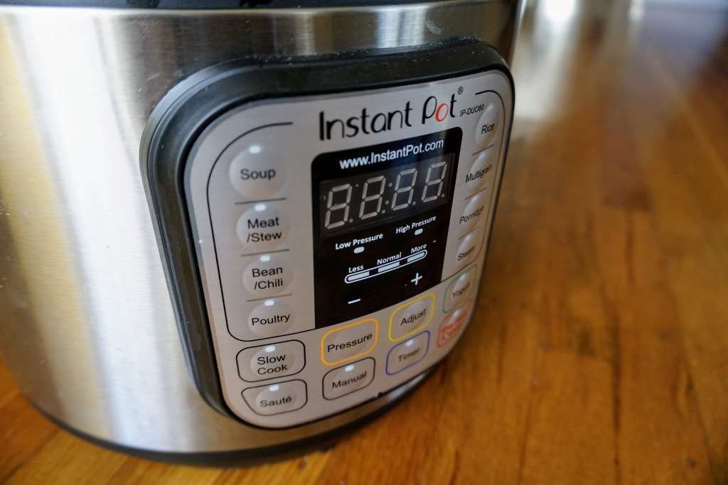Instant Pot vs Crockpot - close up of Instant Pot Control Panel