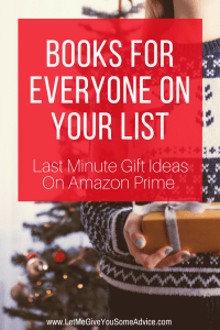 Last Minute Book Gift Ideas from Let Me Give You Some Advice